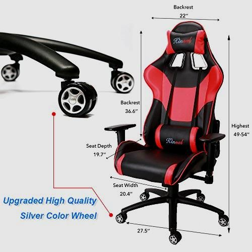 Ergonomic Gaming Chair  w Lumbar Support Pillow        >>> SPECIAL OFFER  http://amzn.to/2bFump0