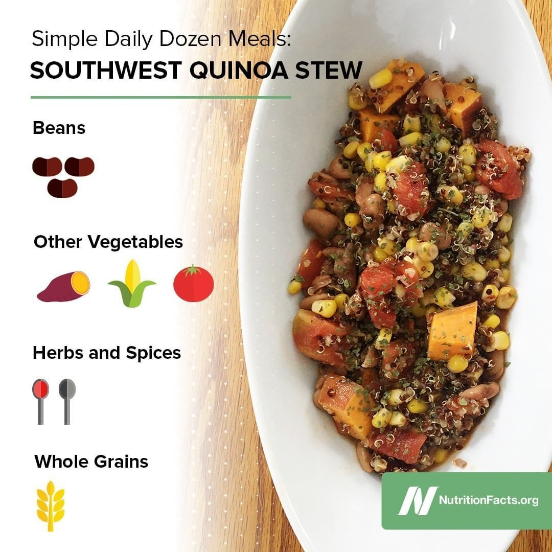 Here S An Easy And Delicious Daily Dozen Inspired Meal That Uses Some Pantry Staples Download Our F In 2020 Vegan Recipes Healthy Whole Food Recipes Food Inspiration