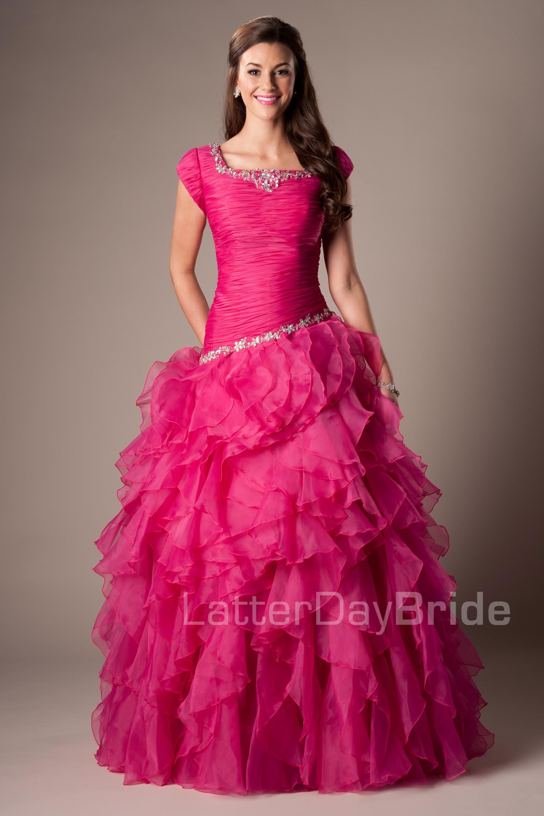 Encantador Vestidos De Boda Modesta En Utah Componente - Colección ...