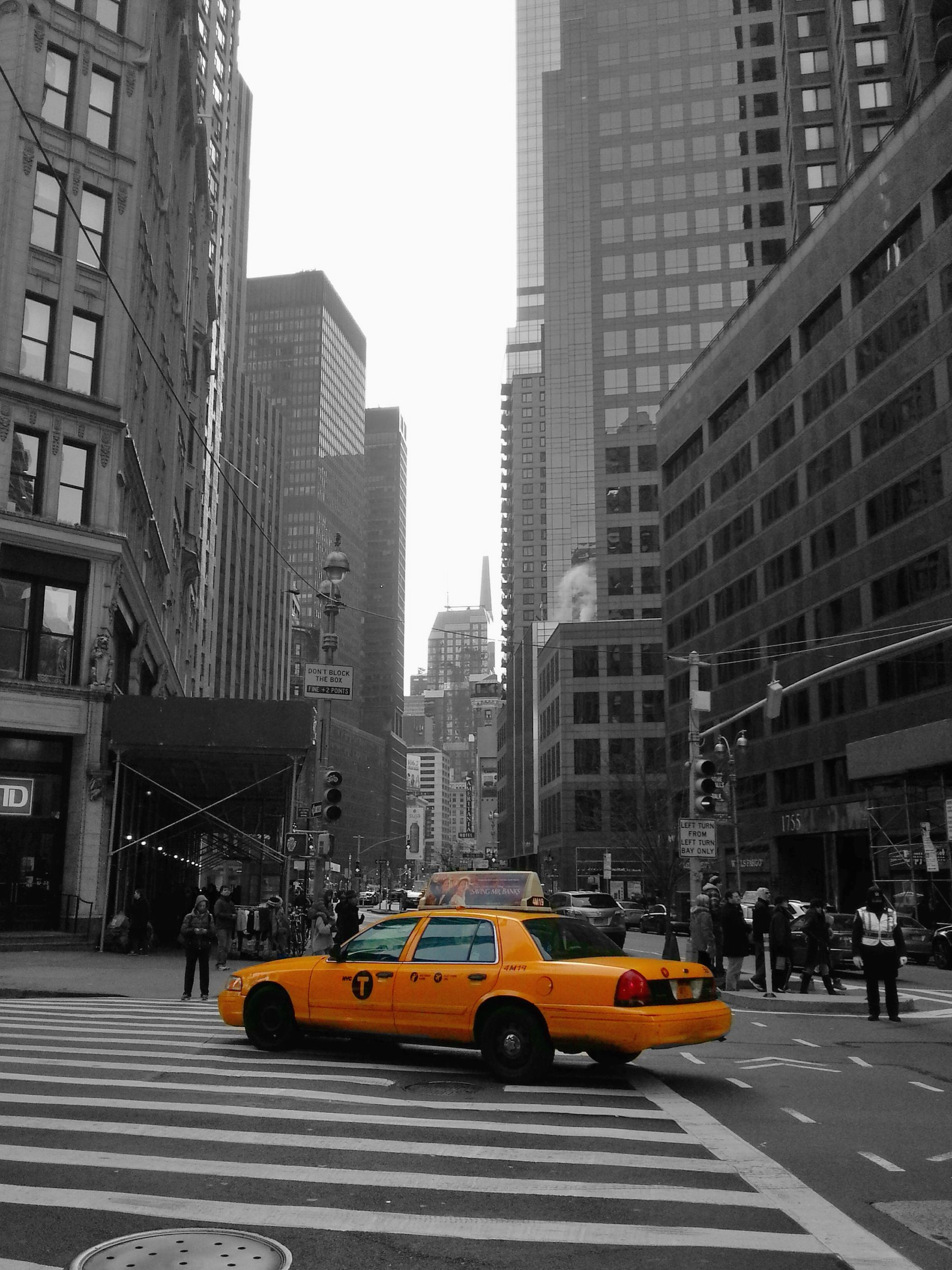 The iconic image of the city, the taxi others can only mimic. Now only used on manhattan island, a lime green taxi is replacing around the suburbs