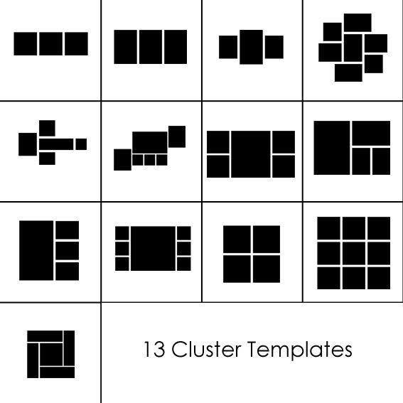 Canvas cluster templates