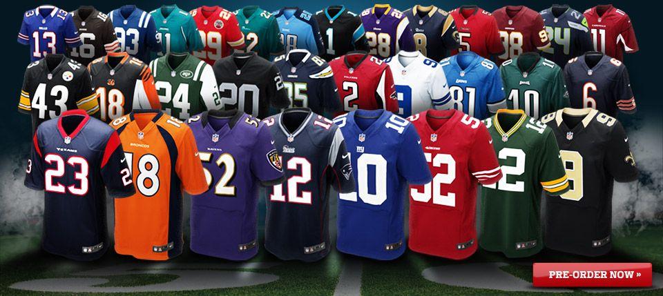 64d1bef1a96 Many NFL team jerseys | My Style | Custom sports jerseys, American ...
