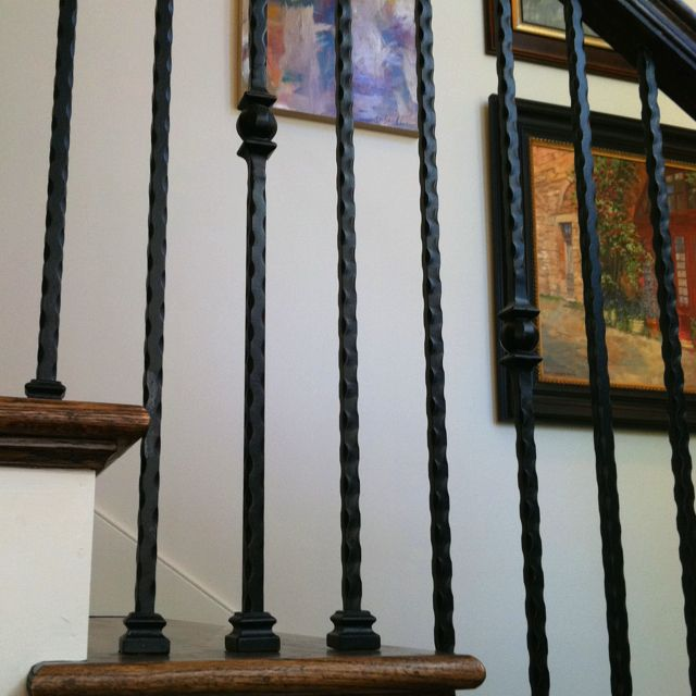.Iron Rails | Iron railing, Stair railing, Interior paint