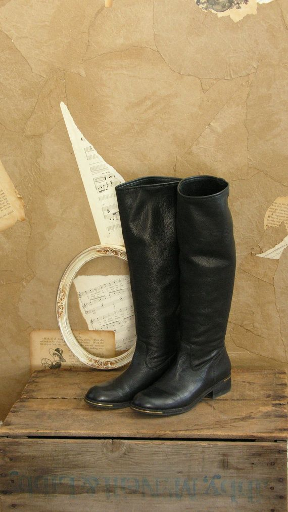 Vintage Jumping Puddles Knee High Boots Size 7 by VeryVintageStore, $88.00