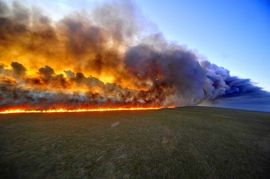 Wildfire in Southern Brazil