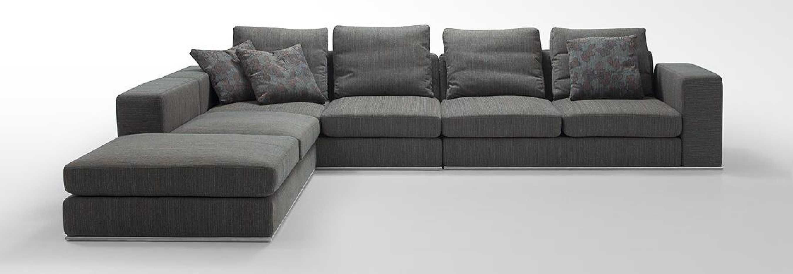 Grey Modern Couch And Dark Gray Sectional Tow Seat Sofa Combined ...