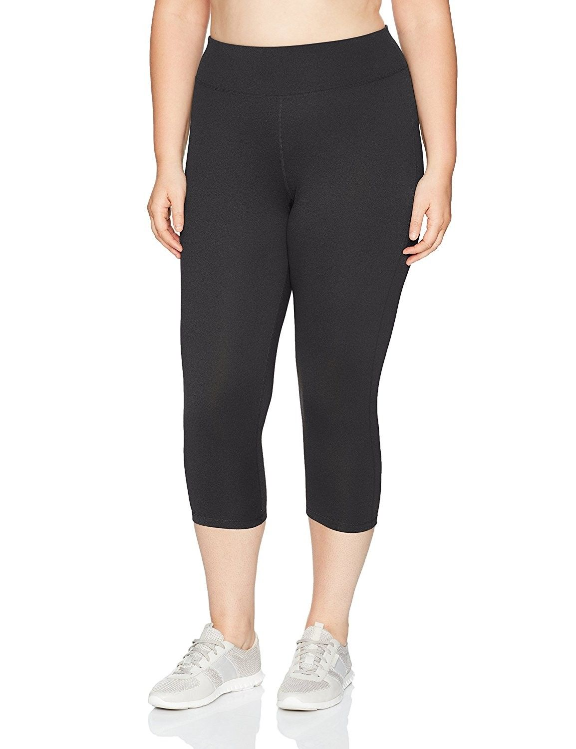 345ee114ad794 Women's Plus Size Active Stretch Capri - Black - CE17AYZ6QL4,Women's  Clothing, Active, Active Pants #women #clothing #fashion #style #sexy  #outfits #Active ...