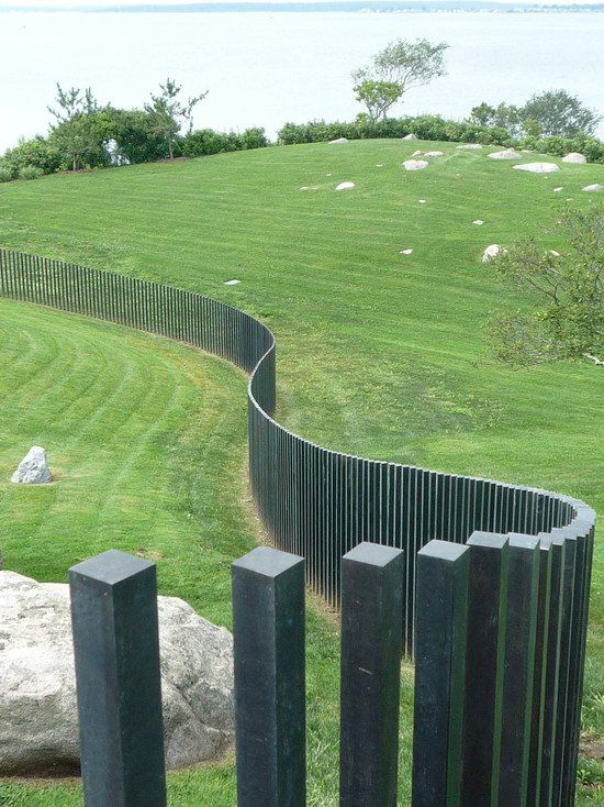 modern landscape wave shaped garden fence ideas | Contemporary ...