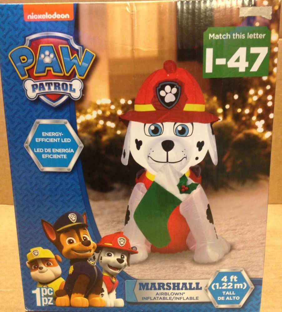 Gemmy inflatable airblown reindeer outdoor christmas decoration lowe - Details About Paw Patrol Marshall Puppy Dog Stocking Gemmy Led Christmas Airblown Inflatable