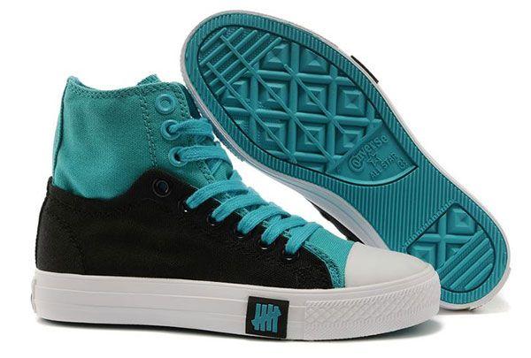 94e63de23d4d Converse Double Upper High Top Light Blue Black Chuck Taylor All Star  Sneakers  converse  shoes