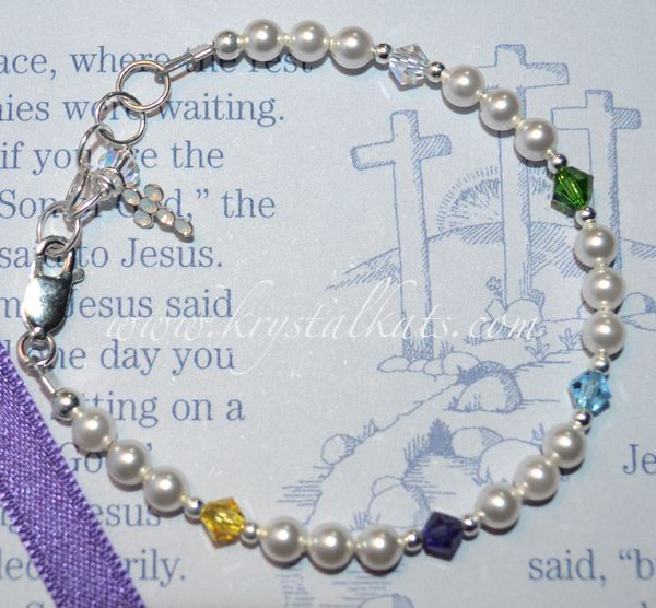Little S Pearls Easter Story Bracelet Birthstone Favorite Color