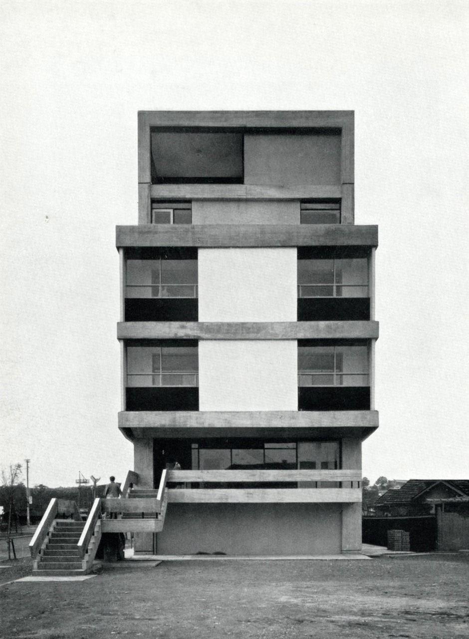 Yoshinobu Ashihara: Iwasaki Dressmaking School, Yokahama Ladiesu0027 Center,  1957 61
