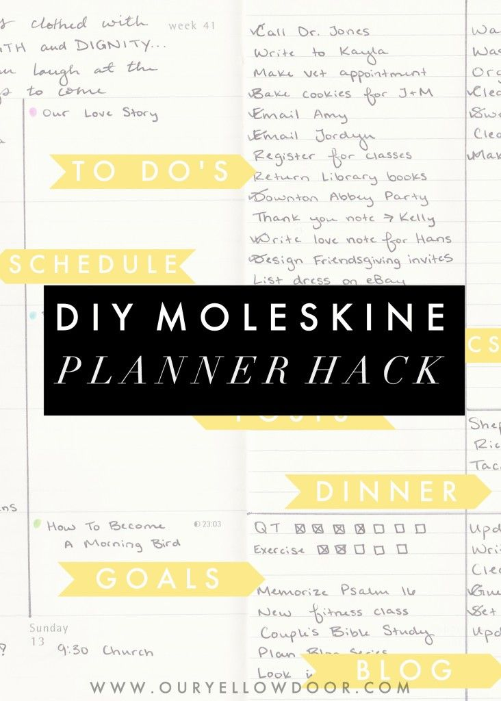 moleskine book journal template - diy moleskine planner hack ideas easy way to stay