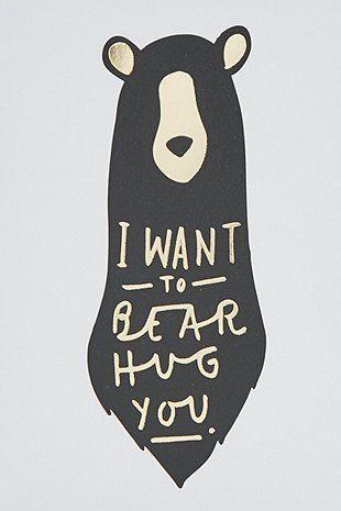 Carte « Bear Hug »