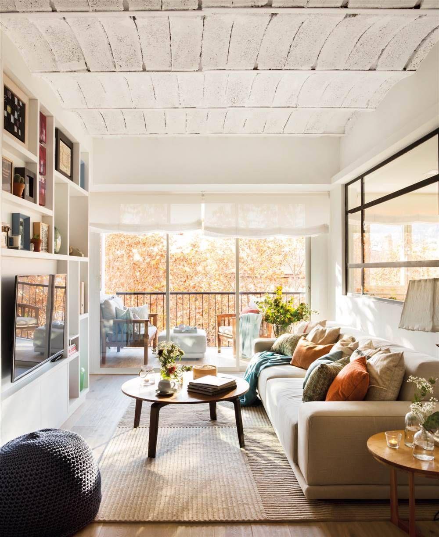 Blanco puro: el más luminoso en 15  Premier appartement, Salon