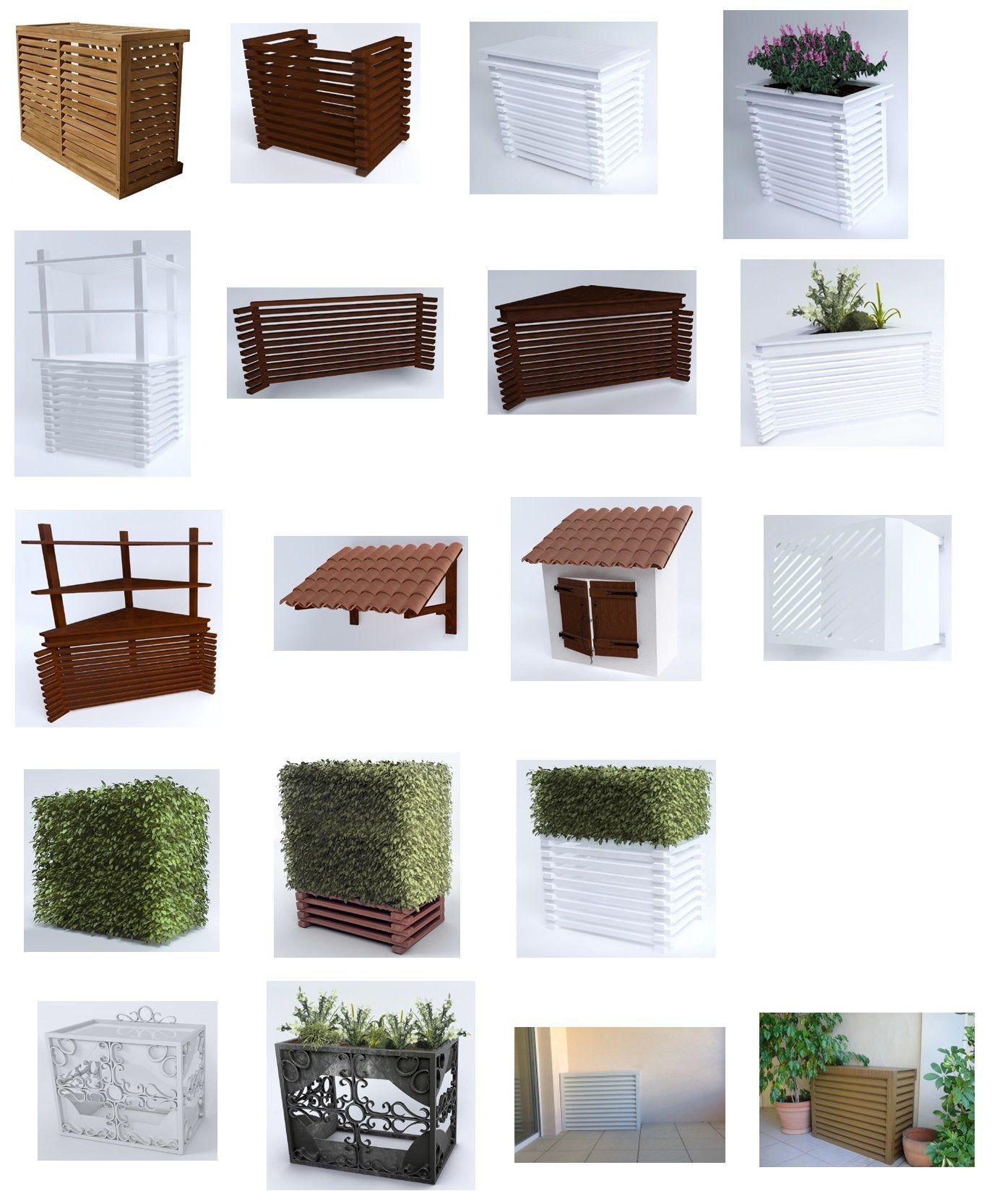 cache pour pompe chaleur info d co pinterest insonorisation cache radiateur. Black Bedroom Furniture Sets. Home Design Ideas