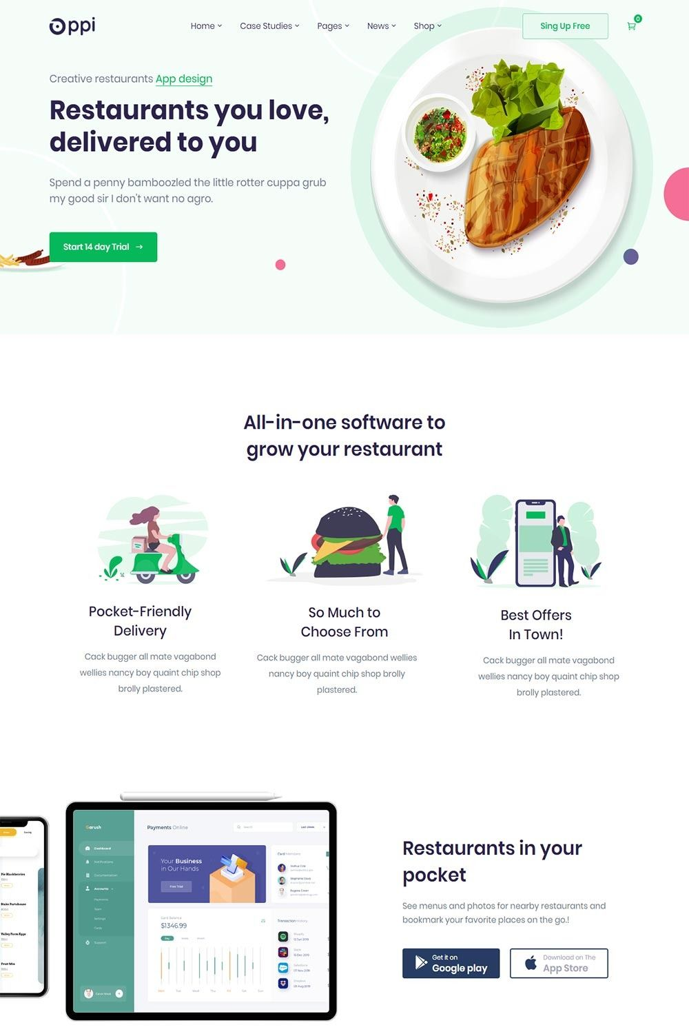 Oppi is a stateoftheart, advanced WordPress theme for