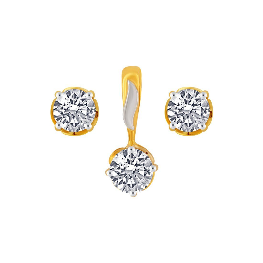 The Jewellery Set Is Made Of 10kt Yellow Gold The Product Is 16 5 Mm In Length And 7 Mm In Width Templ With Images Gold Jewelry Sets Yellow Gold Jewelry Gold Necklace Set