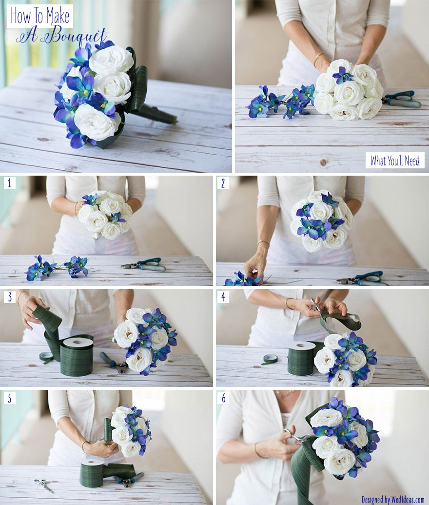 How to Make a Bouquet | Orchid, Leaves and Wraps