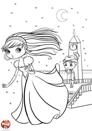 Coloriage A4 Cendrillon.Coloriage Cendrillon Au Bal Conte Sketches Disney Princess Et