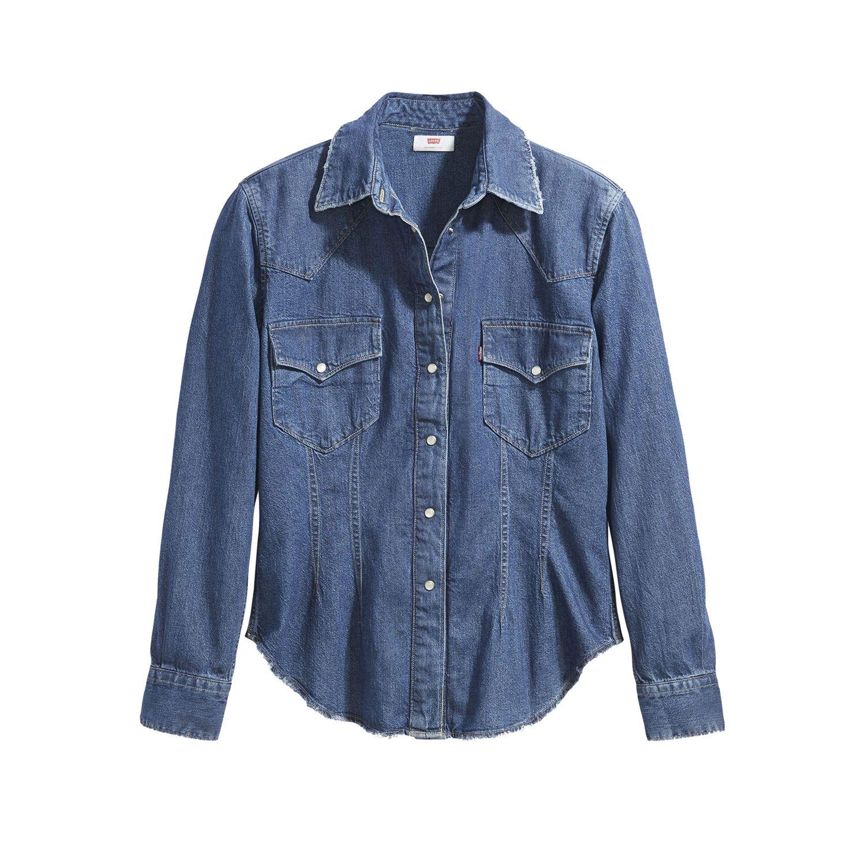 Camisa Jeans Levis Susana Western - lojalevis  86c58e1fb75
