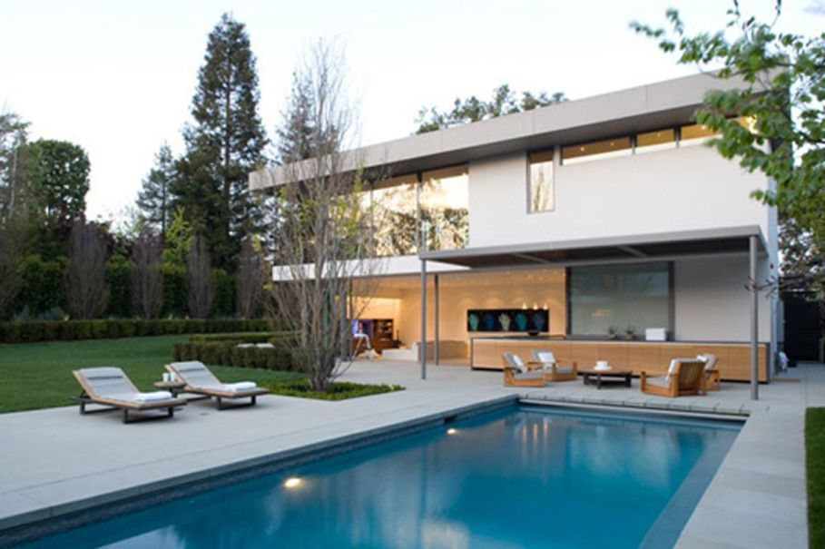 Moderne Hinterhof Pool Designs für Luxus Haus #Badezimmer #Büromöbel - moderne luxus wohnzimmer