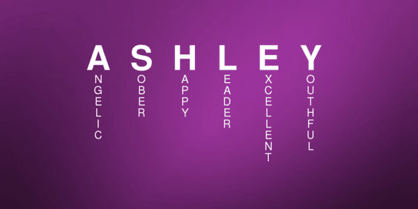 Ashley name meaning