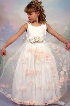 Flower girl dress petal