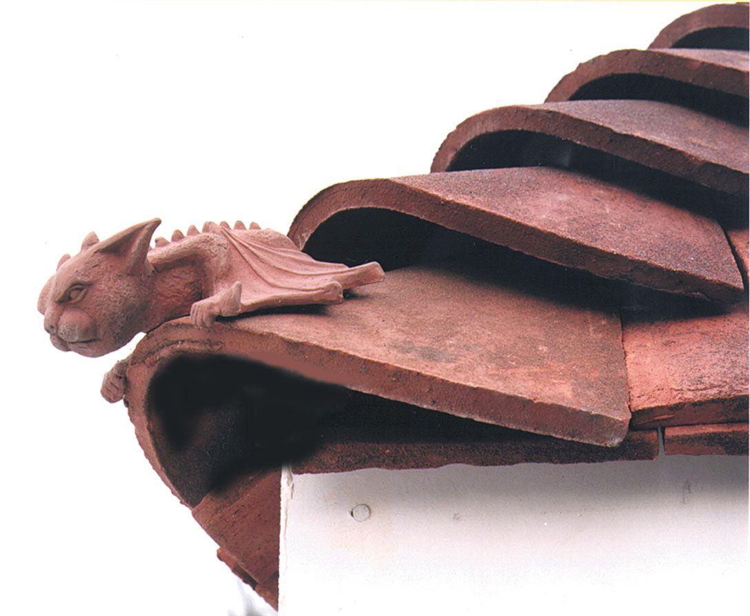 Decorative Ridge Tiles Terracotta Bat Hip Tilelove This Little Fella #clay #finials