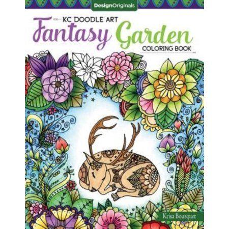 Kc Doodle Art Kc Doodle Art Fantasy Garden Coloring Book Paperback Walmart Com Coloring Books Gardens Coloring Book Doodle Art