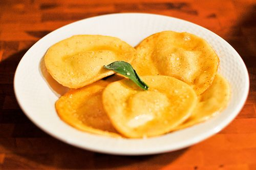 Pumpkin Ravioli with Brown Butter and Sage Sauce