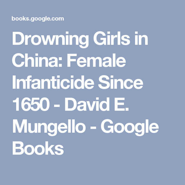 female infanticide in china
