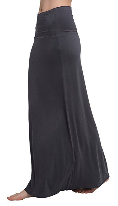 Urban CoCo Womens Stylish Comfy Fold-Over Long Maxi Skirt