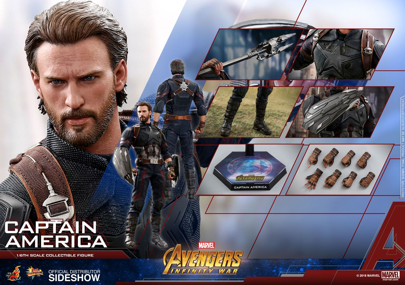 Marvel Captain America Sixth Scale Figure By Hot Toys Sideshow
