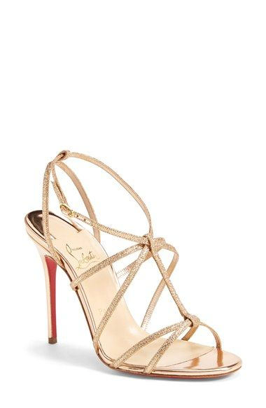 ad864f974e5 Christian Louboutin  Youpiyou  Metallic Leather Sandal available at   Nordstrom