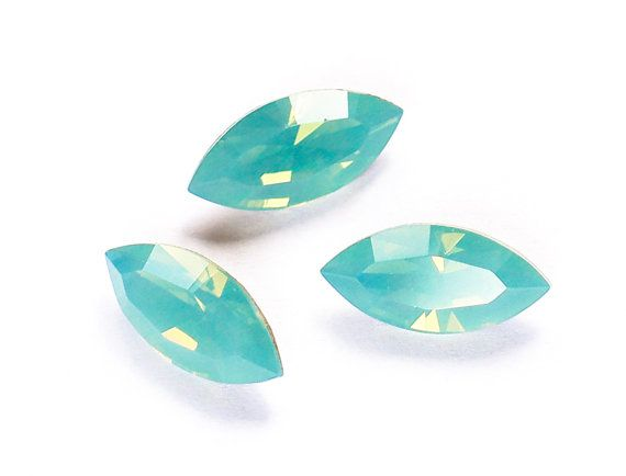 15x7mm PACIFIC OPAL Swarovski Xilion Navette by CrystalWorldStore