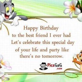 Birthday Wallpaper Best Friend 1 Birthday Wishes Funny Happy Birthday Wishes Quotes Birthday Wishes Quotes
