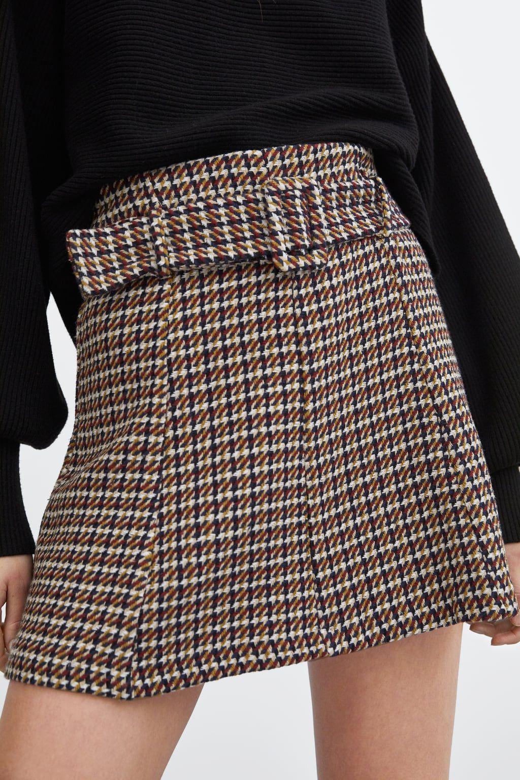 Belted Tweed Mini Skirt Mini Skirts Woman Sale Zara International Mini Skirts Belted Mini Skirt Tweed Mini Skirt