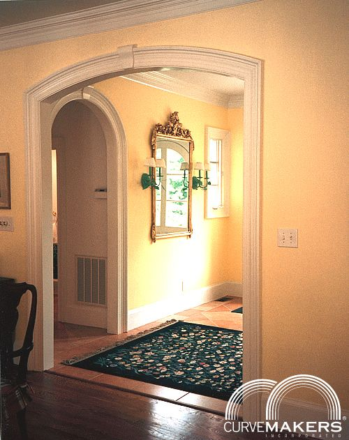 Curvemakers Continuous Molding Arch Kits Patented Wood Arches D I Y Arched Doorways And Openings Interior Archways Diy
