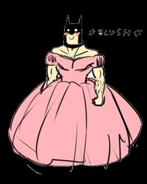 Batman is my favorite disney princess.  I am vengeance, I am the night, I am...so pretty oh so pretty!