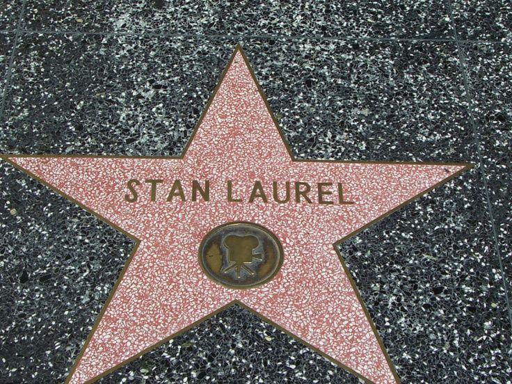 Hollywood Walk Of Fame Stan Laurel Oliver Hardy Vintage Movie Stars