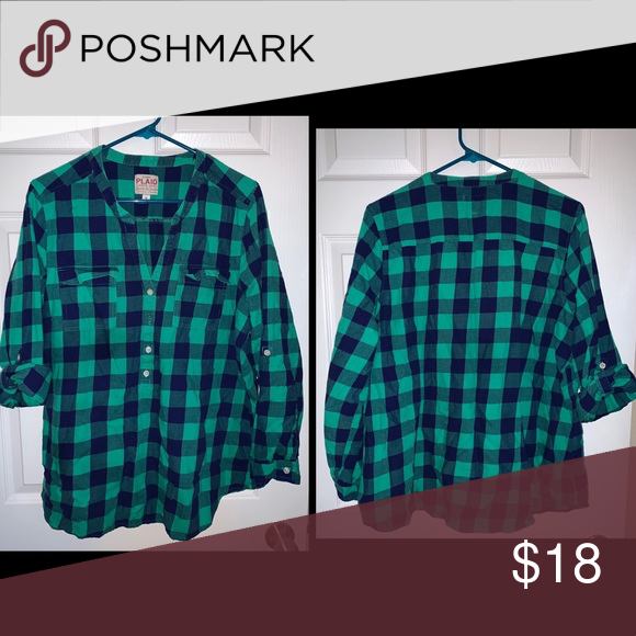 c6ac46c666370 Old Navy perfect flannel Perfect flannel that looks like an empire waist  when you wear it