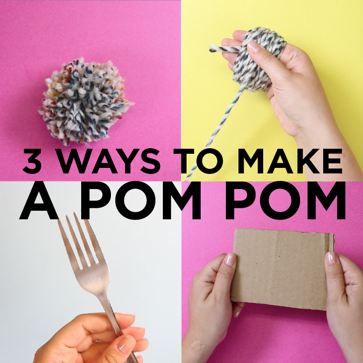 3 Ways to Make a Pom Pom without a Pom Pom Maker -   18 diy projects Cute pom poms ideas