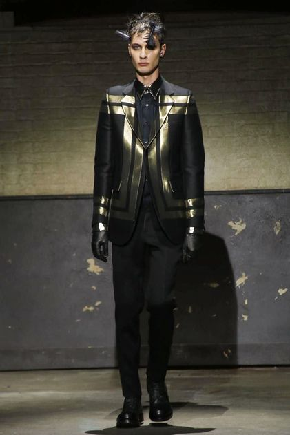Alexander McQueen Menswear Fall Winter 2014 London - NOWFASHION