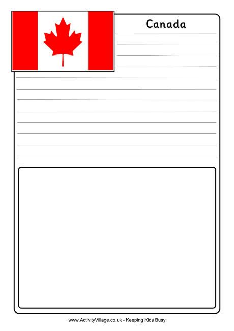 Canada Notebooking Page Canada Day 150 Flag Coloring Pages