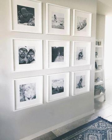 Disenos De Paredes Decoradas Con Fotos En 2 Cuartos Como Decorar Mi Cuarto Diseno De Pared De Galeria Decoracion De Pasillos Decoracion Paredes Con Fotos