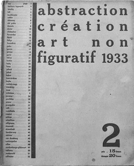 2nd Exhibition of the group Abstraction Création Paris, 1933