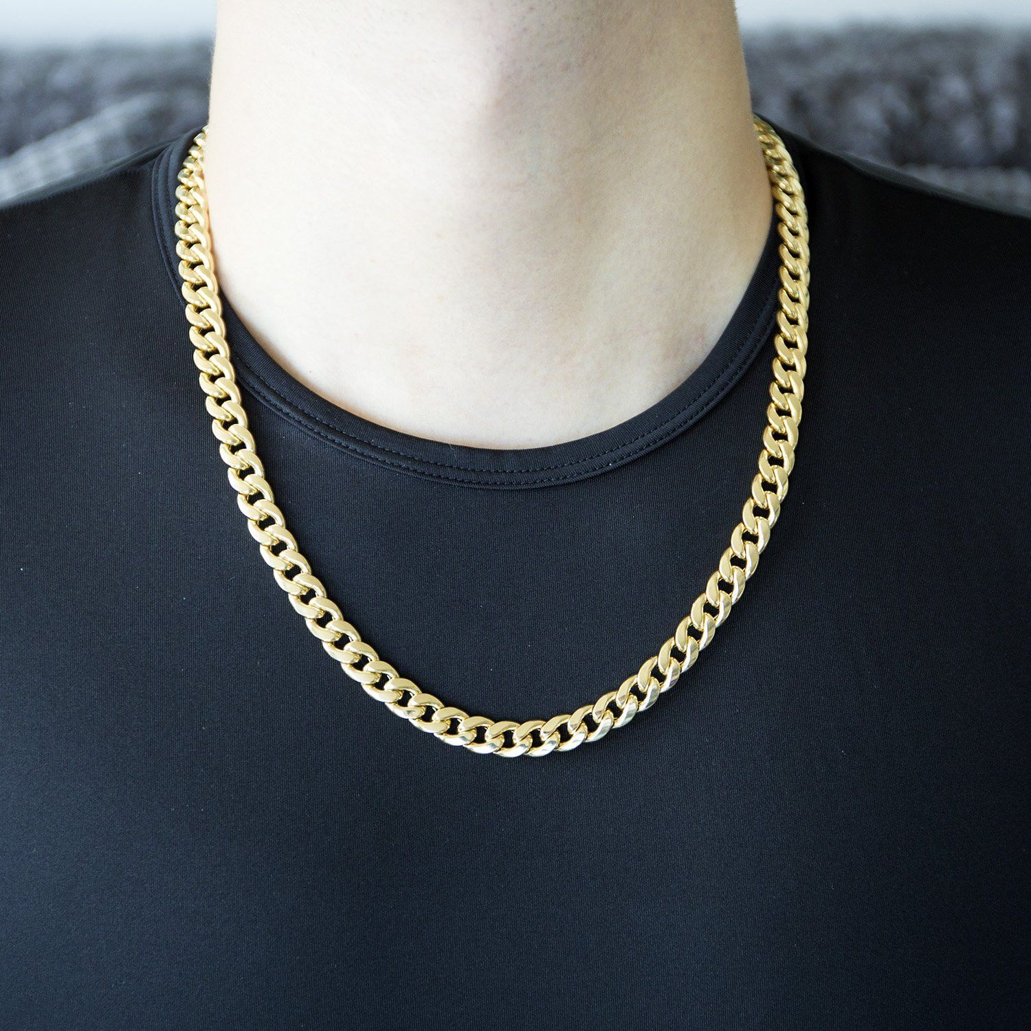 Gucci Link Chain For Sale Ebay >> 10k Yellow Gold Hollow Links 9mm Miami Cuban Link Chain Necklace 24