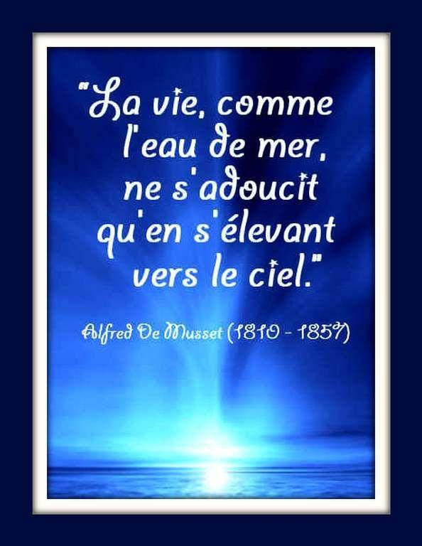 Citation Ciel Et Mer Alfred De Musset Avec Images Citation