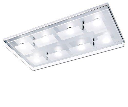 Paul Neuhaus 8-flammige LED-Deckenleuchte Chiron- eckig 6107-17